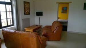 """Le salon et accès à la """"chambre jaune"""""""