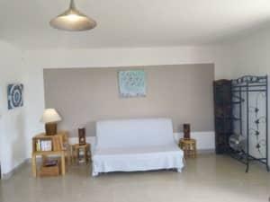 Gite Riparia - salon canapé BZ en 160